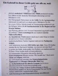Info-Flyer gegen den 1000 Kühe Stall in Ostrach-Hahnennest