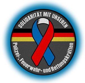 Solidarität mit unseren Polizei-, Feuerwehr- und Rettungskräften!